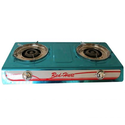 Red Heart Stainless Steel Gas Stove 2 Burner