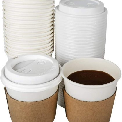 Coffee Cups with Lids x 25